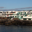 Buildings on the promenade of Playa Blanca, Canary Island Lanzarote, Spain. — Stock Photo