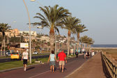 Promenade in Morro Jable, Canary Island Fuerteventura — Foto Stock