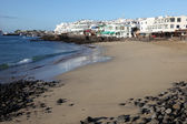 Beach in Playa Blanca, Canary Island Lanzarote, Spain — Stock Photo