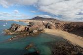 Playa de Papagayo and coastline in Lanzarote, Spain — Stock Photo