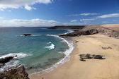 Plage sur l'île canarienne de lanzarote, espagne — Photo