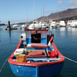 Stock Photo: Old fishing boat in harbor of Morro Jable, Fuerteventura