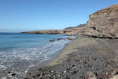 Black sand beach on Canary Island Fuerteventura, Spain — Zdjęcie stockowe