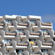 Balconies at the facade of a modern building - Stock Photo