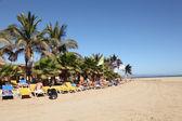 Beach at Rene Egli Surfing Center on Canary Island Fuerteventura — Stock Photo