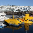 Stock Photo: Submarine tour boats in Puerto del Carmen, Lanzarote Spain. Photo taken at