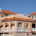 Residential buildings on Canary Island Fuerteventura, Spain — Stock Photo