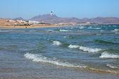 Kitesurfing on the beach on Canary Island Fuerteventura — Stock Photo