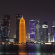 Doha skyline at night, Qatar, Middle East — Stock Photo #8686766