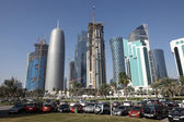 Parking lot downtown in Doha, Qatar. — Stockfoto