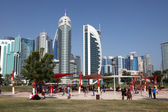 Playground in Doha downtown district Al Dafna, Qatar. — Stock Photo