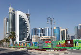 New Doha downtown district, Qatar. — Stock Photo