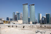 Construction site in Doha downtown district, Qatar — Stock Photo
