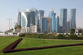 Doha new downtown district West Bay, Qatar — Stock Photo