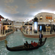 Canal and Gondola inside of the Villaggio Mall Shopping Center in Doha, Qat — Stock Photo