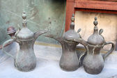 Traditional Arabic Coffee Pots for sale in Souq Waqif, Doha Qatar — Stock Photo