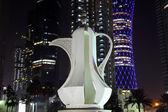 Arabic coffee pot monument in Doha, Qatar — Stock Photo
