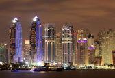 Dubai Marina at night — Stock Photo