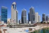 Construction site at Jumeirah Lake Towers in Dubai — Stock Photo