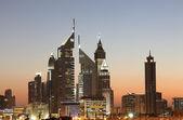 Dubai Downtown Skyline at night — Stock Photo