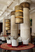 Interior of the Egyptian themed Raffles hotel in Dubai — Stock Photo