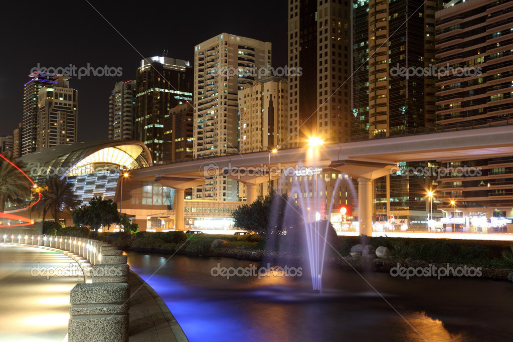 Metro Station at Sheikh Zayed Road, Dubai.  — Stock Photo #9269912