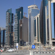 Stock Photo: Dohdowntown district Al Dafna, Qatar.