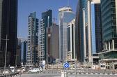 Doha downtown district Al Dafna, Qatar. — Stock Photo