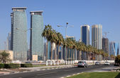 Street in Doha Downtown, Qatar, Middle East — Stock Photo