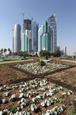 New downtown district West Bay in Doha, Qatar — Stock Photo