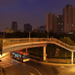 Night scene in the city of Shanghai, China — Stock Photo