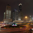Roundabout at Oriental Pearl Tower in Pudong, Shanghai — Stock Photo #9336079