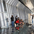 Tourists inside of the Observation Deck of the Shanghai World Financial Center (SWFC), Pudong Shanghai China - Foto Stock