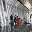 Tourists inside of the Observation Deck of the Shanghai World Financial Center (SWFC), Pudong Shanghai China - Photo