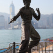 Statue of the famous actor Bruce Lee at the Avenue of Stars in Hong Kong - Foto Stock