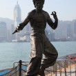 Stock Photo: Statue of the famous actor Bruce Lee at the Avenue of Stars in Hong Kong