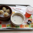 Stock Photo: Food served in Chinese fast food restaurant in Shanghai