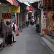 Narrow street with market in Tai O, Hong Kong — Stock Photo