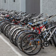 Bikes parked on street, Shanghai China — Stock Photo #9337256