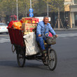 Chinese transportation. Three wheeler like this are very popular in China — Stock Photo