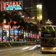 Nathan Road in Hong Kong Kowloon at night — Stock Photo