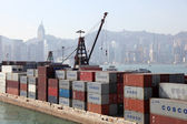 Container Terminal in Kowloon, Hong Kong — Stock Photo
