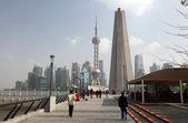 Walking on the Bund, Shanghai China — Stock Photo