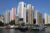 Harbor in Hong Kong Aberdeen — Stock Photo