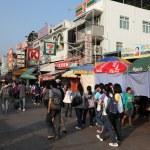 Main street in village Cheung Chau, Hong Kong — Stock Photo #9340016