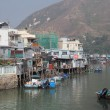 Fishing village Tai O at Lantau island in Hong Kong — Стоковая фотография