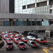 Stock Photo: Taxis downtown in Hong Kong