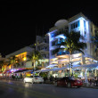 Miami South Beach Art Deco District at Night, Ocean Drive — Stock Photo