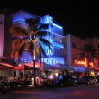 Stock Photo: Miami South Beach Art Deco District at Night, Florida