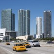 Traffic on the Bridge at Downtown Miami, Florida — Foto Stock